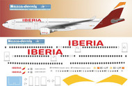 1/144 Scale Decal Iberia A330-300
