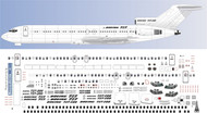 1/100 Scale Decal Detail Sheet 727-200