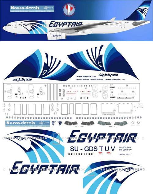1/144 Scale Decal Egyptair A330-300