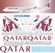 1/144 Scale Decal Qatar Airbus A350-900