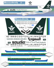 1/200 Scale Decal Saudia L-1011 HZ-AHA