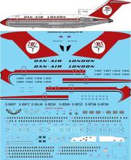 1/144 Scale Decal Dan Air London Boeing 727-100