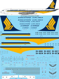 1/144 Scale Decal  Singapore Airlines Boeing 707-320B/C