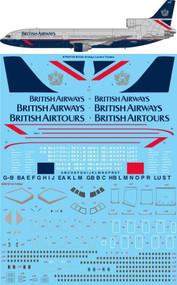"""1/144 Scale Decal British Airways """"Landor"""" Lockheed Tristar"""