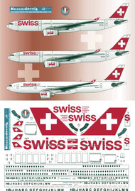 1/144 Scale Decal SWISS A330-200 / 300