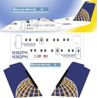 1/72 Scale Decal Continental Express Dash-8