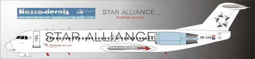 1/144 Scale Decal Austrian F-100 STAR ALLIANCE