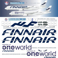 1/144 Scale Decal Finnair A-350 ONEWORLD with TWO liveries