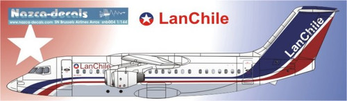 1/144 Scale Decal Lan Chile BAe-146