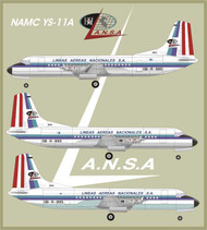1/144 Scale Decal Lansa YS-11
