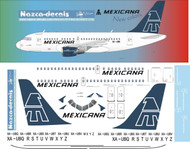 1/144 Scale Decal Mexicana A-318 Blue Tail