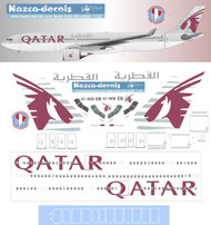 1/144 Scale Decal Qatar A330-300