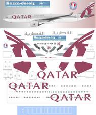 1/144 Scale Decal Qatar A330-300 New