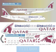 1/144 Scale Decal Qatar A-320 ONEWORLD Two Liveries