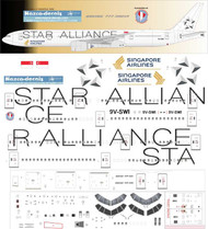 1/144 Scale Decal Singapore Airlines 777-300 STAR ALLIANCE