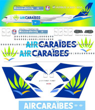 1/144 Scale Decal Air Caraibes A350-900