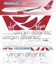 1/144 Scale Decal Virgin Atlantic A-330