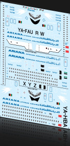 1/144 Scale Decal Ariana 727-200 / 720B