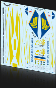 1/144 Scale Decal Singapore A-340