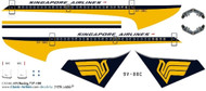 1/144 Scale Decal Singapore 737-100