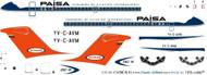 1/144 Scale Decal Paisa / Viasa DC9-15