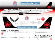 1/144 Scale Decal Air Canada A-321