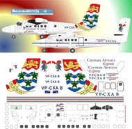 1/144 Scale Decal Cayman Airways Express DHC-6 Twin Otter