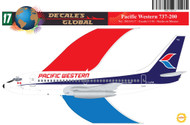 1/144 Scale Decal Pacific Western 737-200