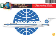 1/144 Scale Decal Pan American 727-200