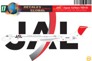 1/144 Scale Decal JAL - Japan Airlines MD-81