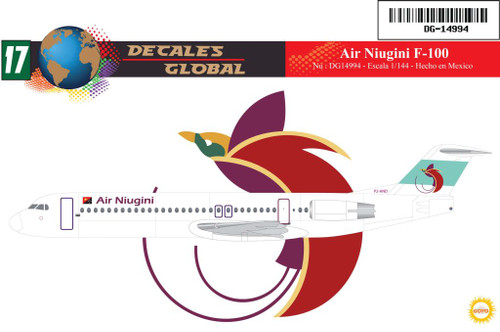 1/144 Scale Decal Air Niugini F-100