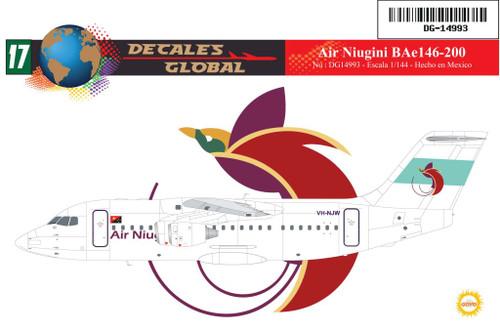1/144 Scale Decal Air Niugini BAe 146-200