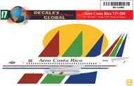 1/144 Scale Decal Aero Costa Rica 737-200