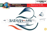 1/144 Scale Decal Batavia Air 737-200
