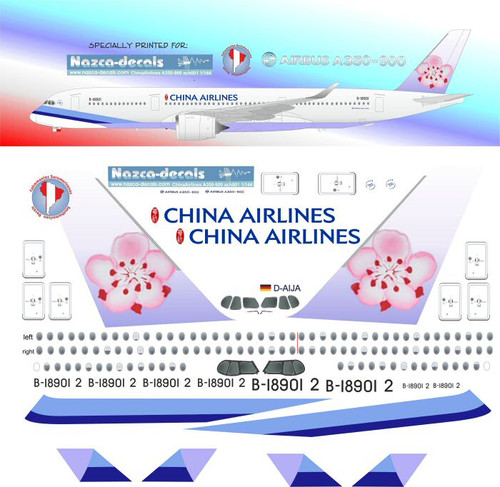 1/144 Scale Decal China Airlines A-350