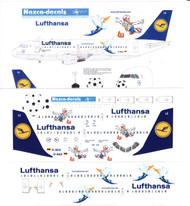 1/144 Scale Decal Lufthansa A-319 with Football Nose