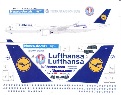 1/144 Scale Decal Lufthansa A350-900