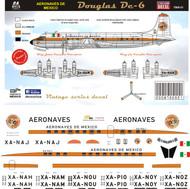 1/144 & 1/72 Scale DecalAeronaves de Mexico DC-6