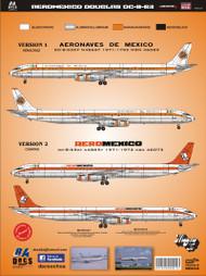 1/144 Scale DecalAeronaves de Mexico DC-8-5160s
