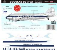 1/144 1/72 1/48 Scale DecalAeronaves de Mexico DC-350's