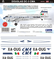 1/144 1/72 1/48 Scale Decal CMA DC-3 1955