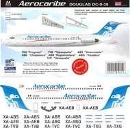 1/144 Scale Decal Aerocaribe DC-9-30 Final Livery