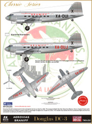 1/144 Scale Decal Braniff DC-3