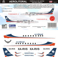 1/144 Scale Decal Aerolitoral Metroliner II & III