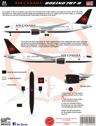 1/144 & 1/200 Scale Decal Air Canada 787-8 2017