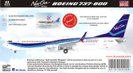 1/144 1/200 1/400 1/500 Scale Decal New Gen 737-800