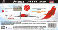 1/144 1/200 1/400 1/500 Scale Decal Avianca Argentina-Colombia ATR-72