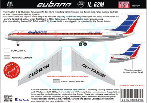 1/144 Scale Decal Cubana IL-62