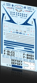 1/144 Scale Decal Air France 707