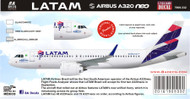 1/144 Scale Decal LATAM A-320 NEO
